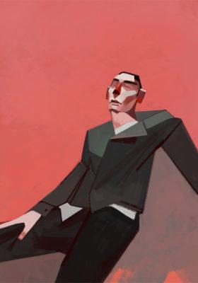 Il Teatro illustrato - pittura digitale Romina Bandini