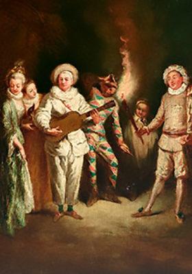 """Jean-Antoine Watteau, """"L'Amore nel Teatro Italiano"""""""